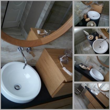 Mueble de baño a medida, diseñado por Ambolk baños