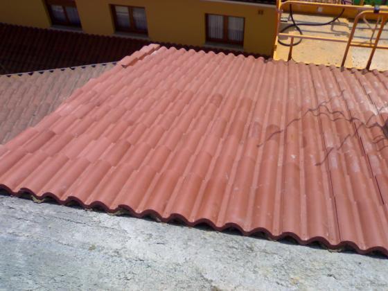 Colocación de teja de hormigón