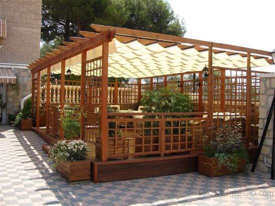 terraza de restaurante en Madrid