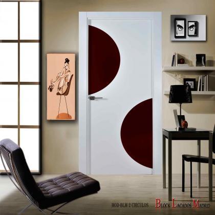 puerta diseño modelo 2 circulos