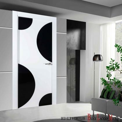 puerta diseño 4 circulos