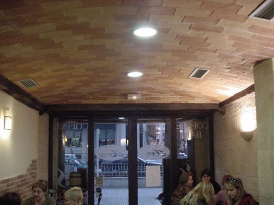 Bóveda de rasilla cafetería Benicasim