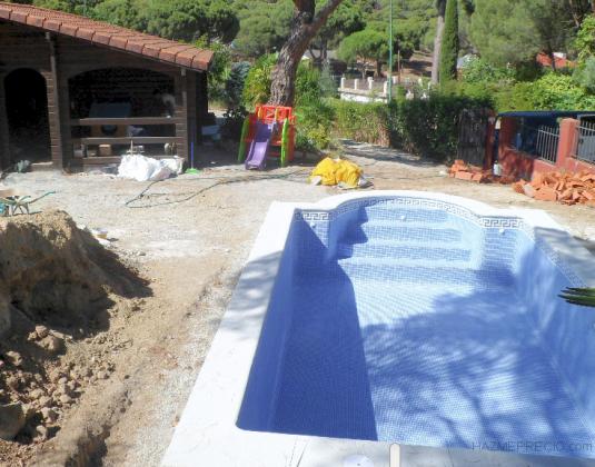 piscina en obra