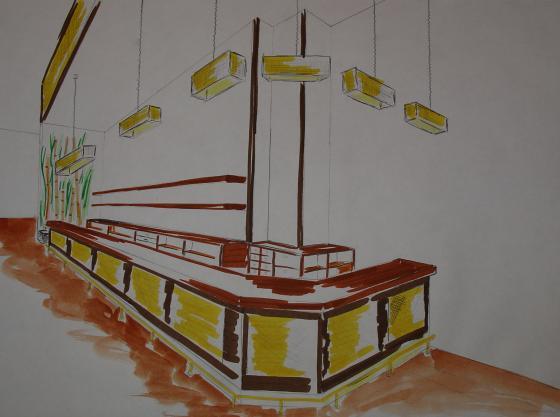 Bocetos para un pub-restaurante