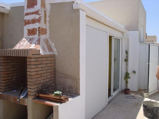 cerramiento de terraza en un atico