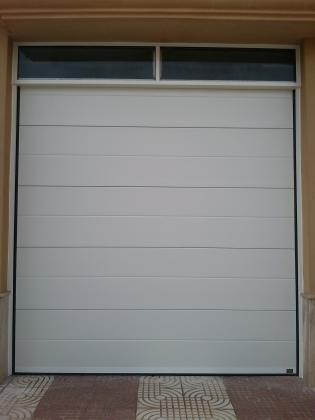Puerta seccional automatica - instalación sin obra