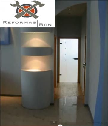 Entrada de casa : Pladur decorativo, pintura mas suelo de ceramica