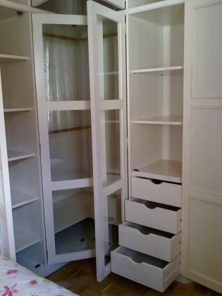 armario en ángulo, lacado