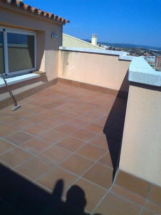 Colocación de gres en terraza