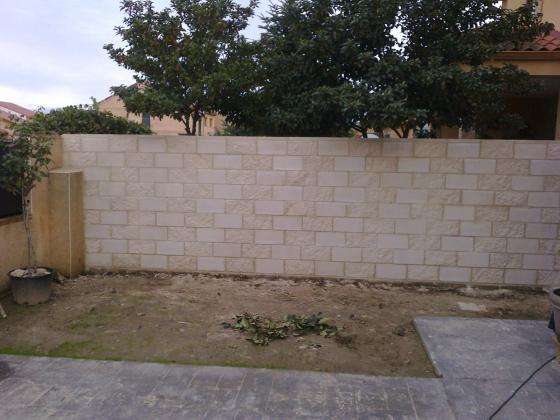 Muros de bloques.