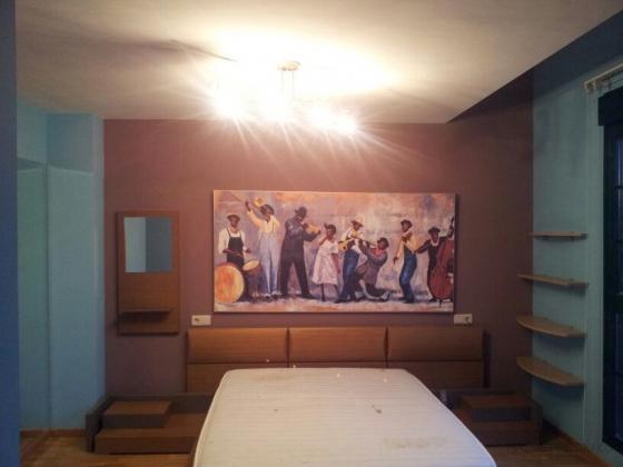 Pintar paredes y techo de habitación