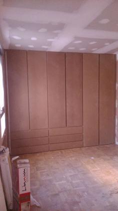 armario con cajones vistos en DM para pintar