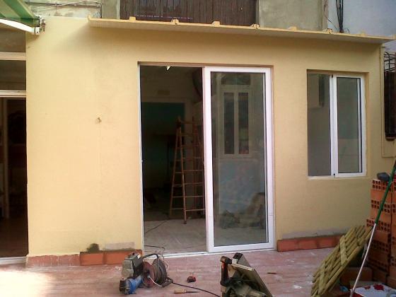 Ampliación aula sobre terraza