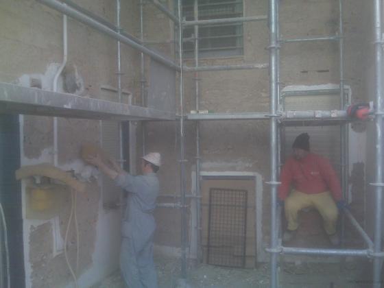 Rehabilitación de patio interior en Logroño