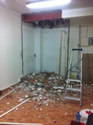 pared almacen tirada