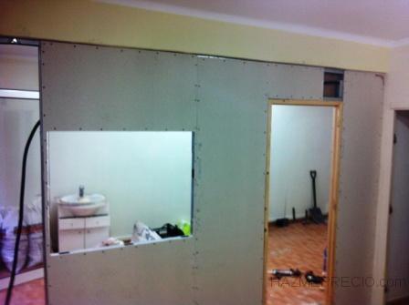 creando ventana en pared de pladur