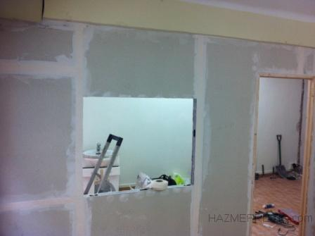 Enmasillando pared de pladur