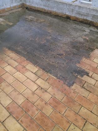 limpieza de cubierta con agua a presion (hidrolimpiadora)