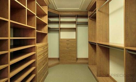 Diseño y fabricación de muebles para vestidor