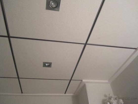 techo desmontable perfileria Fineline cromada y negra con moldura plana lisa