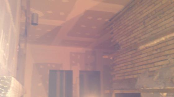 pladul de techos pasillo y baño en clinica dental
