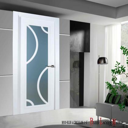 puerta vidriera 4 circulos