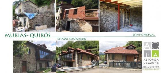 Rehabilitación de vivienda y cambio de uso de pajar. Murias- Quirós- Asturias