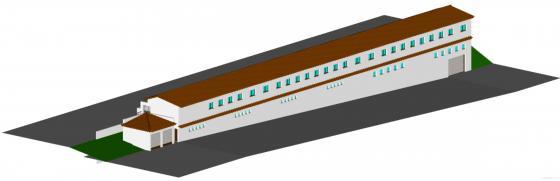 3D Nave de dos plantas en Villaluenga de la Sagra (Toledo)