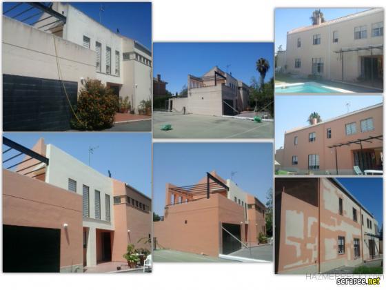Reparación y pintura en fachada.