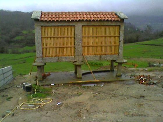 reforma canastro;tejado,encintado,duelas y puerta de madera