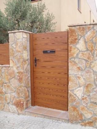 Estructuras del norte 33930 llanera asturias for Como hacer una puerta de madera para jardin