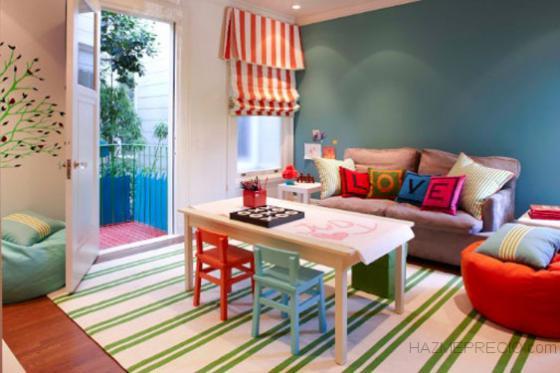 Diseño de decoración- Alisado, pintura, y colocación de tarima en habitación infantil