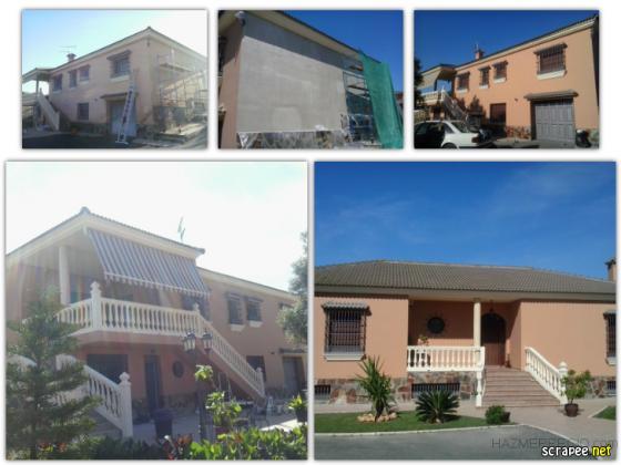 Reparacion y pintura en fachada.