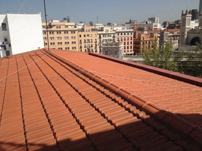 Reparar tejado teja plana
