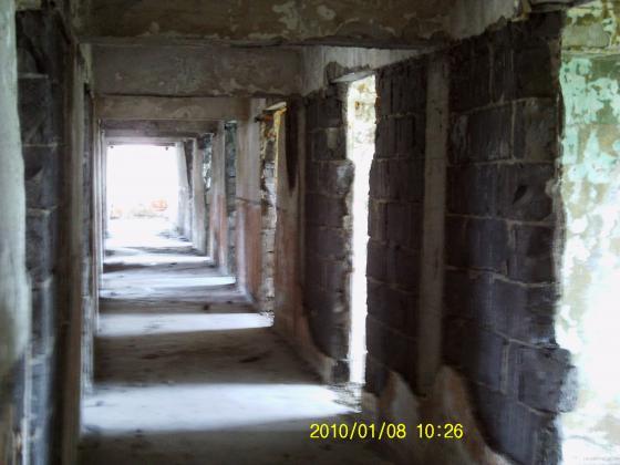 reabilitacion de un pasillio en edificio ,antes de obra