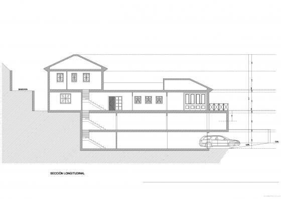 Proyecto de vivienda unifamiliar aislada (sección posicionamiento en parcela)