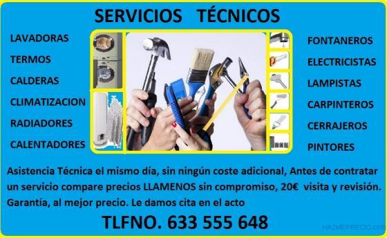 Mantenimiento, reparación, arreglos y servicios