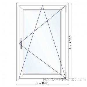 175€ VENTANA FANZYN 1 hoja 800x1200 doble junta doble cristal sin persiana