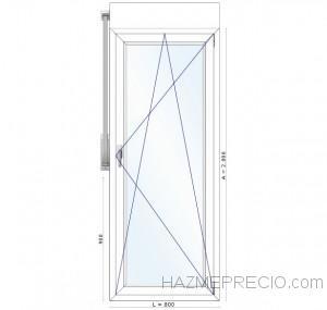335€ PUERTA FANZYN 1hoja 800x2000 doble junta doble cristal con persiana