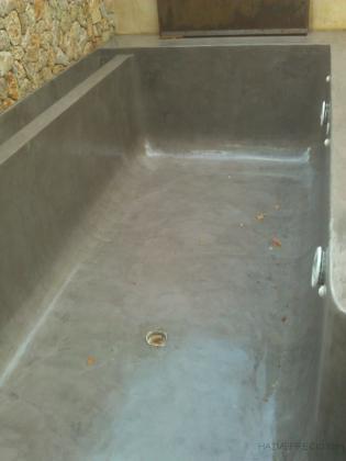 piscina con microcemento sin aqua