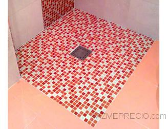 plato ducha acabado mosaico gresite