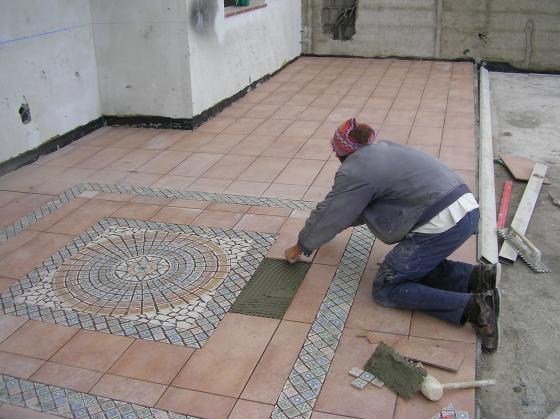 dibujo en terraza (alfombra)