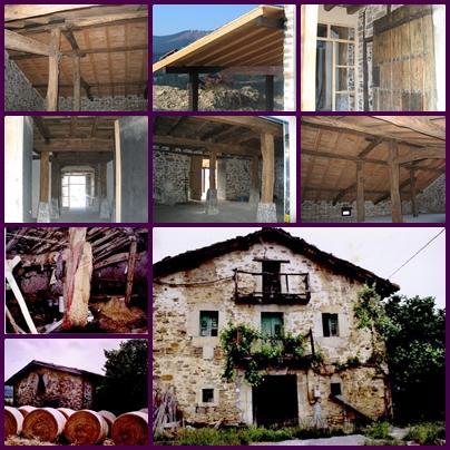 Rehabilitación de caserio-Imagenes antes de reforma y durante la misma