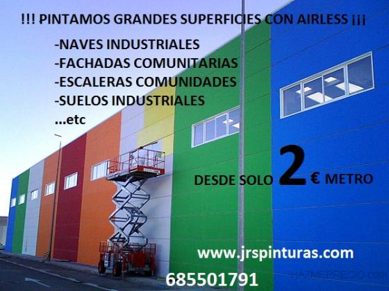 PINTAMOS CON AIRLESS GRANDES SUPERFICIES