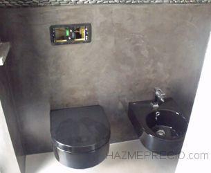 Construcción de baño con Microcemento