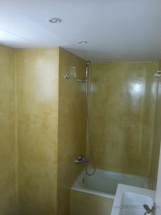 baño refromado con microcemento