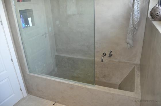 Bañera microcemento
