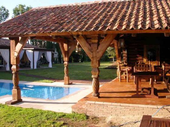 Porches de madera juve 28802 alcal de henares madrid Porche jardin madera