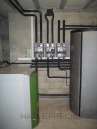 Instalación de caldera de pellets
