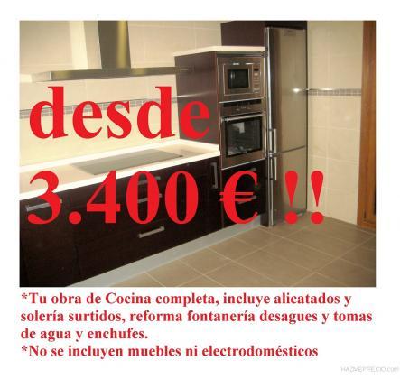 COCINA COMPLETAY CON INSTALACIONES INCLUIDAS